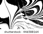 ebru marbling  traditional... | Shutterstock . vector #446588164