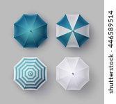 vector set of white blue... | Shutterstock .eps vector #446589514