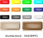 isolated multi colored buttons...   Shutterstock .eps vector #44658991