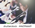 conference microphones | Shutterstock . vector #446596669