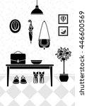 vector illustration of hallway... | Shutterstock .eps vector #446600569