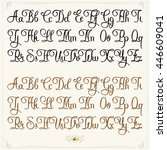 hand drawn vector calligraphy... | Shutterstock .eps vector #446609041