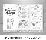 vintage vegetarian menu design. ...   Shutterstock .eps vector #446616409