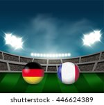 germany vs france soccer ball...