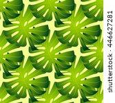 tropical leafs pattern on light ...   Shutterstock .eps vector #446627281