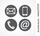 Contact icons | Shutterstock vector #446629939