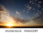 Majestic Sunset In Cloudscape