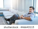 portrait of a handsome mature...   Shutterstock . vector #446643115