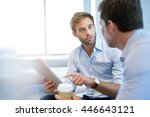 handsome young business... | Shutterstock . vector #446643121