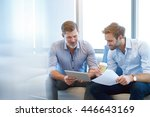 handsome mature business... | Shutterstock . vector #446643169