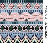 geometric ethnic pattern.... | Shutterstock .eps vector #446646967
