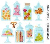 Sweet Shop. Glass Jars Of...