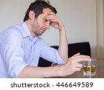 Depressed Man Abusing Of...