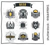 set of vintage beer badge logo... | Shutterstock .eps vector #446649841