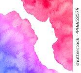 illustration of watercolor spots | Shutterstock . vector #446653579