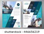 business brochure flyer design... | Shutterstock .eps vector #446656219