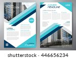 business brochure flyer design... | Shutterstock .eps vector #446656234