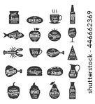 vector foods and drink logo.... | Shutterstock .eps vector #446662369