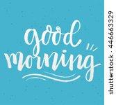 handwritten lettering  ... | Shutterstock .eps vector #446663329