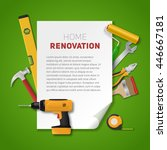 Home Renovation Banner With...