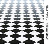 tiled floor. vector... | Shutterstock .eps vector #446671981