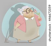 old cartoon woman  | Shutterstock .eps vector #446672059