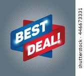 best deal arrow tag sign icon.... | Shutterstock .eps vector #446673331