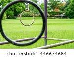 a rusty old steel bar ring... | Shutterstock . vector #446674684