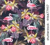 tropical summer seamless... | Shutterstock .eps vector #446677957