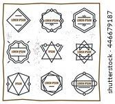set geometric signs  labels ... | Shutterstock .eps vector #446679187