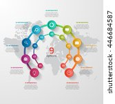 vector circle infographic... | Shutterstock .eps vector #446684587