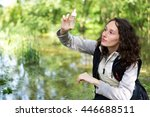 view of a young attractive...   Shutterstock . vector #446688511