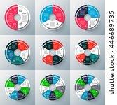 vector circle infographics set. ... | Shutterstock .eps vector #446689735