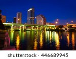 florida tampa skyline at sunset ... | Shutterstock . vector #446689945