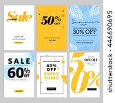 social media sale banners and... | Shutterstock .eps vector #446690695
