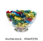 Multicolored Candies In Glass...