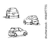 vector hand drawn of sketches... | Shutterstock .eps vector #446697751