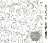 vector seamless pattern with a... | Shutterstock .eps vector #446699329