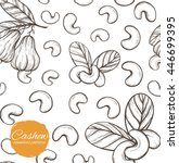 vector seamless pattern with... | Shutterstock .eps vector #446699395