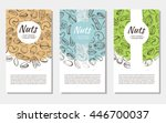 vector background with sketches ... | Shutterstock .eps vector #446700037