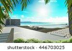Beach House On Sea View 3d...