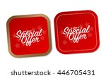 special offer stickers | Shutterstock .eps vector #446705431