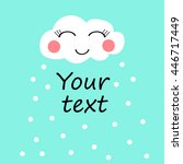 cloud smile snow with place for ... | Shutterstock .eps vector #446717449