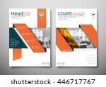 orange business brochure flyer... | Shutterstock .eps vector #446717767