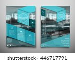 blue business brochure flyer... | Shutterstock .eps vector #446717791
