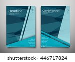 blue business brochure flyer... | Shutterstock .eps vector #446717824