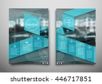 blue business brochure flyer... | Shutterstock .eps vector #446717851