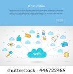 modern line style concept for... | Shutterstock .eps vector #446722489
