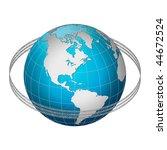 globe earth with binary code... | Shutterstock . vector #44672524