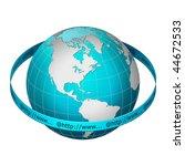 globe earth with www address... | Shutterstock . vector #44672533